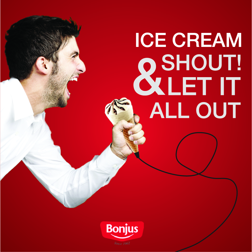 ice cream and shout