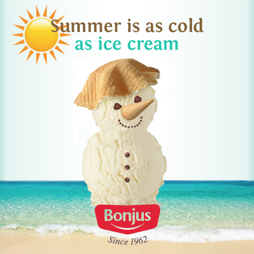 summer as cold as ice cream